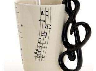 韩国进口代购创意音乐五线谱陶瓷马克杯/水杯 杯子 茶杯,马克杯,