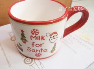 外贸陶瓷 超可爱 小巧 卡通 圣诞 马克杯水杯儿童杯咖啡杯茶杯,马克杯,
