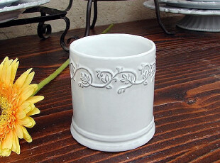 【A grass】外贸陶瓷立体浮雕.被蔓藤覆盖的时光.马克杯\杯子!,马克杯,