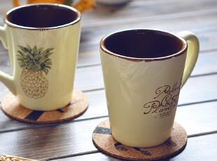 【欧美原单】彩绘水果系菠萝马克杯 奶黄 巧克力 情侣水杯 正品,马克杯,