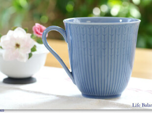 瑞典皇家Rorstrand罗斯兰Mug麦穗系马克杯/茶杯天蓝300ml实拍图,马克杯,