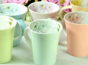 【乐享屋】包邮|一级骨瓷马克杯|创意陶瓷杯子|星巴克田园咖啡杯,马克杯,