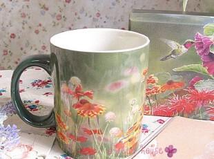 外贸LANG陶瓷杯子生日礼物牛奶花茶水随手马克杯礼盒装花花世界款,马克杯,