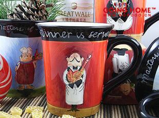 田园风 厨师 马克杯 杯子  手绘马克杯 微瑕,马克杯,