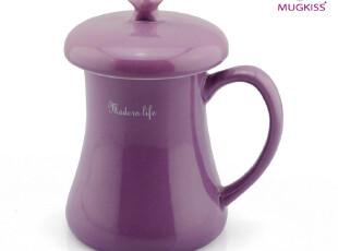 麦格士 许愿杯 陶瓷杯 创意水杯 星星知我心 带盖杯子 韩版马克杯,马克杯,