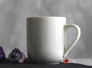 一鸿艺居出口餐具 正品原单 玉兰 新骨瓷马克杯 水杯 瑕疵折扣,马克杯,