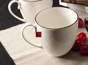 复古马克杯 星巴克风格 白色 陶瓷 英国DENBY 骨瓷 大咖啡杯 欧式,马克杯,