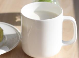 瑕疵纯白马克杯茶杯水杯咖啡情侣杯牛奶杯创意杯子可爱骨瓷陶瓷杯,马克杯,