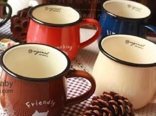 淘金币 包邮 zakka风爱的茶杯马克杯动物图案牛奶杯陶瓷,马克杯,
