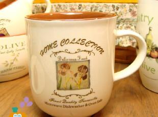 【瑕疵特卖】外贸陶瓷红土乡村风格马克杯/咖啡杯/水杯,马克杯,