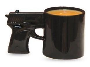美国Big Mouth Toys The Gun Mug大口的玩具*马克杯,马克杯,