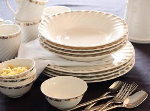 外贸出口 陶瓷餐具 雍容系列 马克杯 饭碗 汤盘 餐盘 十六件套装,马克杯,