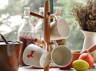 榉木 马克杯架 木制小树叉 杯架,马克杯,