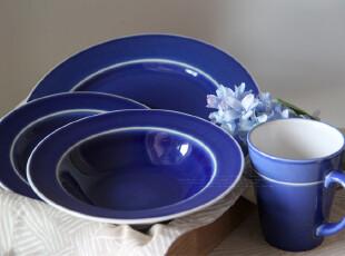 12国庆 外贸出口原单尾单 BIA蓝色陶瓷碗盘马克杯套四,马克杯,