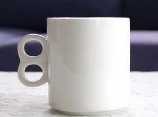 高档陶瓷杯精美礼品杯创意杯咖啡杯牛奶杯 白瓷马克杯数字杯,马克杯,