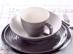 陶瓷西餐牛排餐具套装 名品 枫丹白露 西餐盘马克杯4件套 7折特价,马克杯,