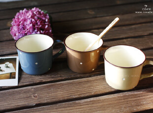 INCAFE|超萌可爱水玉杯 点点马克杯 送礼 咖啡杯 奶杯 日单 ZAKKA,马克杯,