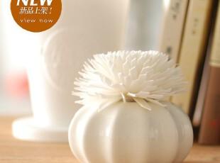创意礼品 法式清雅居室香薰 自然挥发房间香 陶瓷大花朵礼盒套装,香薰,