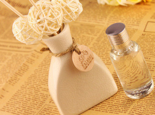 无火香薰,藤枝香水挥发瓶/花座/香熏瓶,日式藤球锥形瓶,香薰,