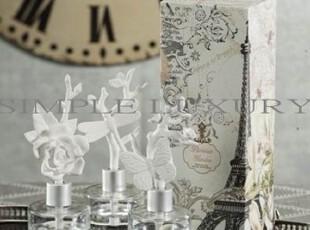 简单的奢华 纯美巴黎花园白瓷雕花空气净化精油瓶装饰  限时9折,香薰,