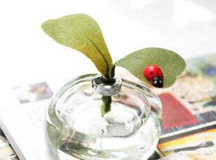 出口法国 复古扁式方瓶 绿意 叶子七星甲壳虫 家居车用 无火香薰,香薰,