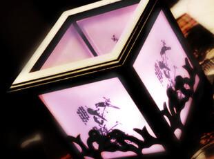 喜鹊迎春木艺香薰灯 插电香熏灯 精油香薰灯 电香薰炉 多色选择,香薰,