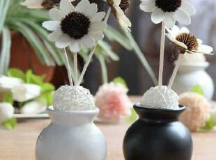 创意家居 特价 朗芬藤条香薰/黑白陶瓷瓶 无火香薰 超值1对装,香薰用品,