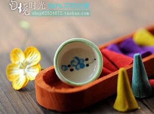 泰国进口四味纯天然植物提炼香薰熏香锥香塔樱花磁盘香托礼品盒装,香薰用品,