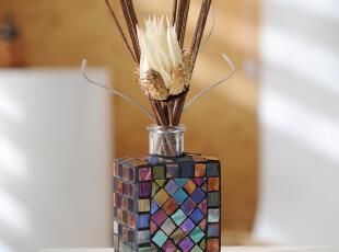 琉璃瓶罂粟花挥发无火香薰精油薰香套装150ML,香薰用品,