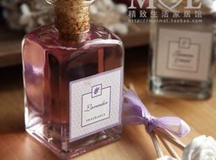 mol 除味香水 小方瓶 白色石膏花朵木签 植物精油挥发液0.3,香薰用品,