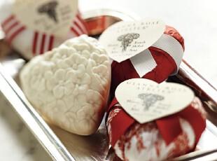 【纽约下城公园】纯植物皂基精细雕刻红心手工皂(一套3个)现货,香薰用品,