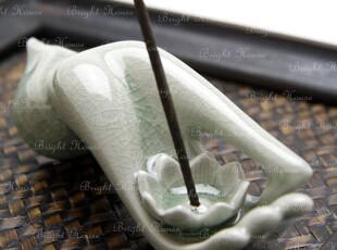 东南亚进口佛手香座 香炉 香薰炉 烛台,香薰用品,