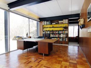 ,现代主义,书房,