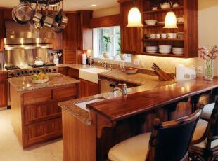 ,热带风情,厨房,