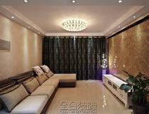 明发滨江广场120平公寓欧式现代风格