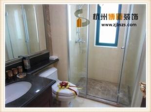 简单直接的浴室搭配就已经很舒适。,87平,9万,混搭,两居,卫生间,