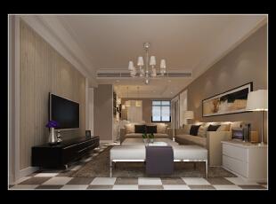 这种设计的现代风格非常含蓄,没有添置太多的装饰品点缀就已经觉得很美观。,118平,14万,现代,三居,客厅,