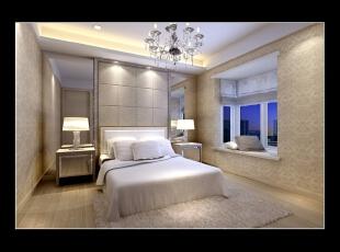 窗口位置上还可以作为休闲区域,坐在上面望着窗外也是挺美好的事情。,135平,16万,现代,四居,卧室,