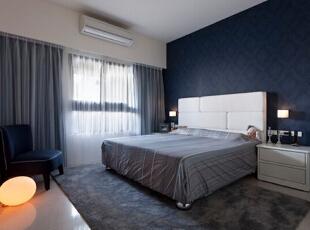 这个事主人房,好像这种整洁又稳重的搭配最适合。,108平,12万,现代,三居,卧室,
