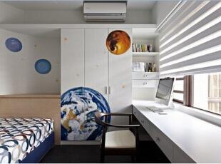 这里是很随性的布局,整洁简单就已经很舒适实用。,108平,12万,现代,三居,卧室,