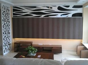 简单的软装加上随性的摆设,大方又舒适。,83平,9万,现代,两居,客厅,