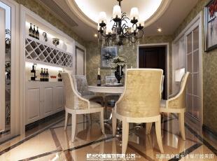 家中有着这种精雅美观的餐厅,感觉每天都是品味的生活状态。,14万,效果图,三居,107平,欧式,餐厅,