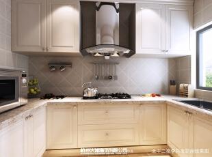 厨房环境简单化,宽大、实用舒适。,效果图,美式,114平,厨房,三居,14万,