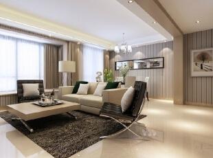 开放式的设计让整个客厅在视觉上更宽敞。,116平,13万,现代,三居,客厅,