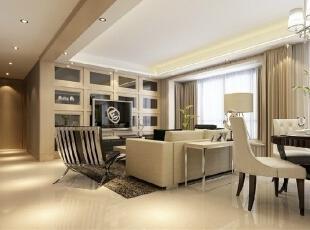 整个空间内的采光都非常通透明朗,餐厅和客厅结合在一起是最适合不过了。,116平,13万,现代,三居,餐厅,