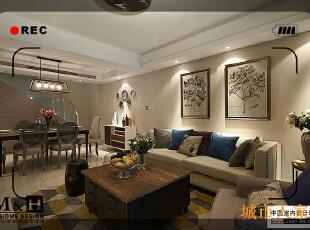 复试风格,新古典,客厅,