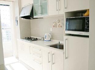 七九八零 loft设计 婚房蜜月房设计,48平,2万,现代,一居,厨房,