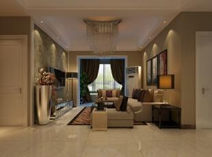 客厅搭配金属色的配饰和文艺挂画,更增加了时尚度。,三居,效果图,5万,现代,90平,
