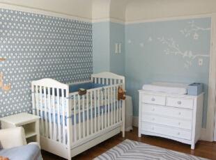 儿童房背景墙纸的妙用