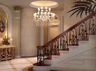 别墅木地板楼梯别墅半圆楼梯图片2